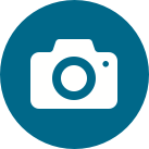 Een icoon van een camera bij het onderwerp rondleiding